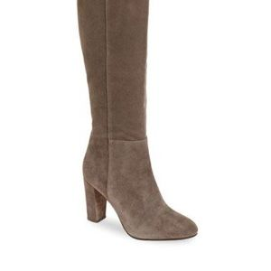 Halogen noble suede taupe boots sz 7